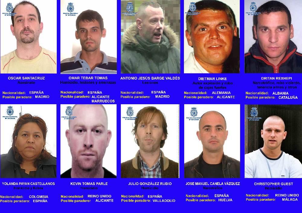 10 criminales mas buscados