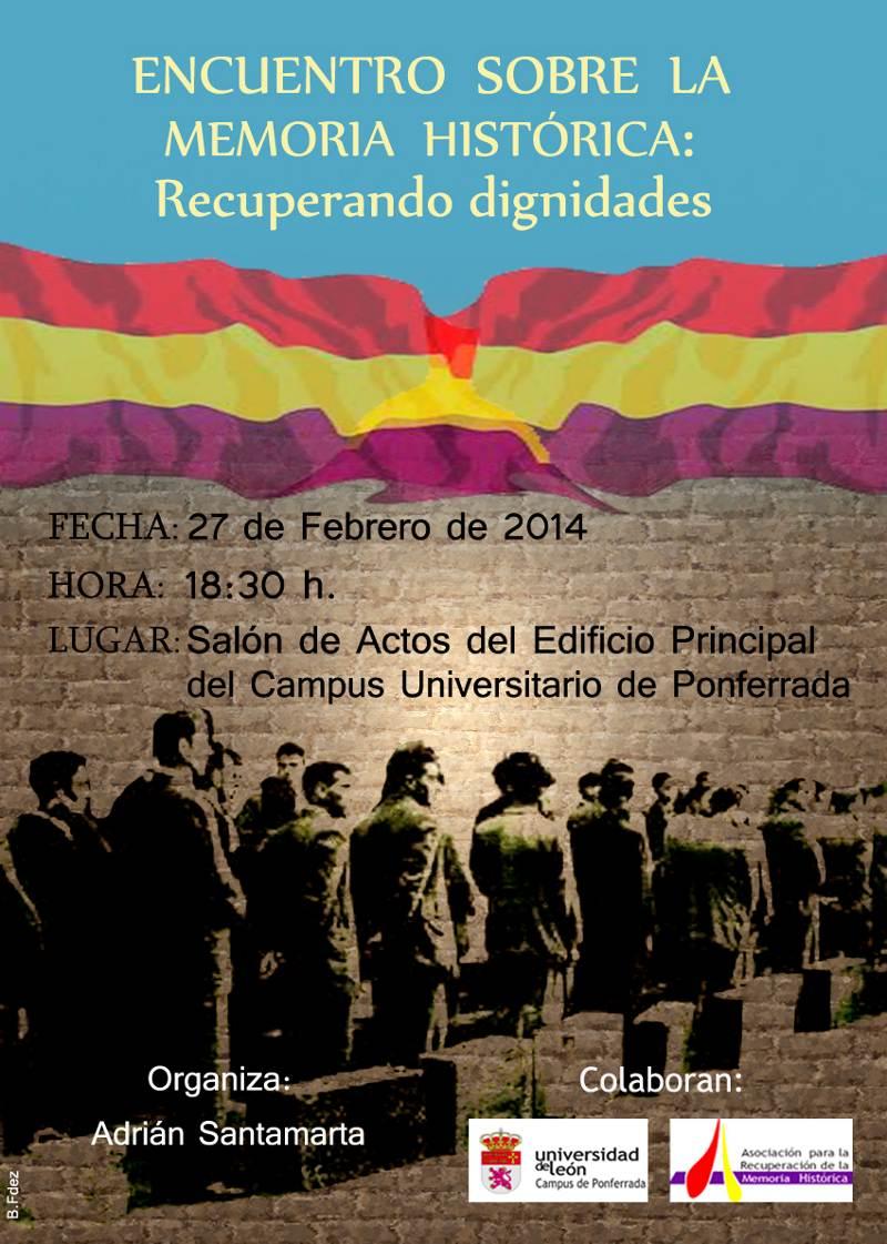 Cartel Encuentro sobre la Memoria Historica