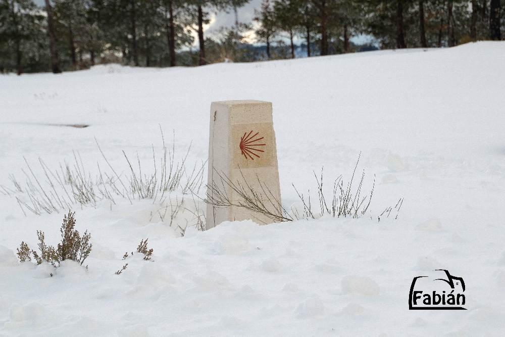 camino santiago nieve