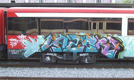 graffitis en trenes