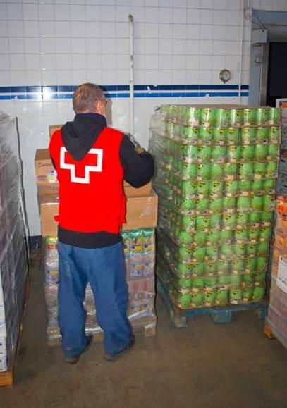 cruz roja distribucion alimentos