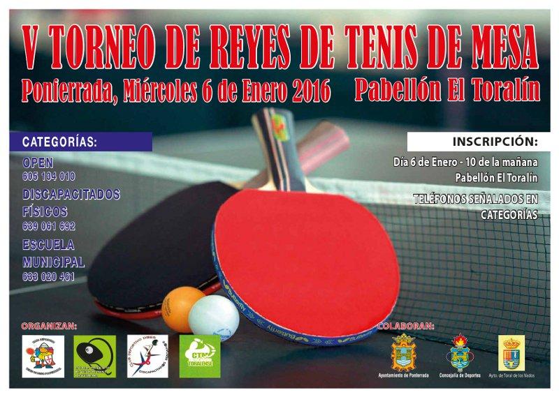 V torneo de reyes 2016 de tenis de mesa noticias bierzo - Torneo tenis de mesa ...