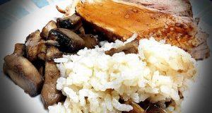 rollo ternera arroz champiñones